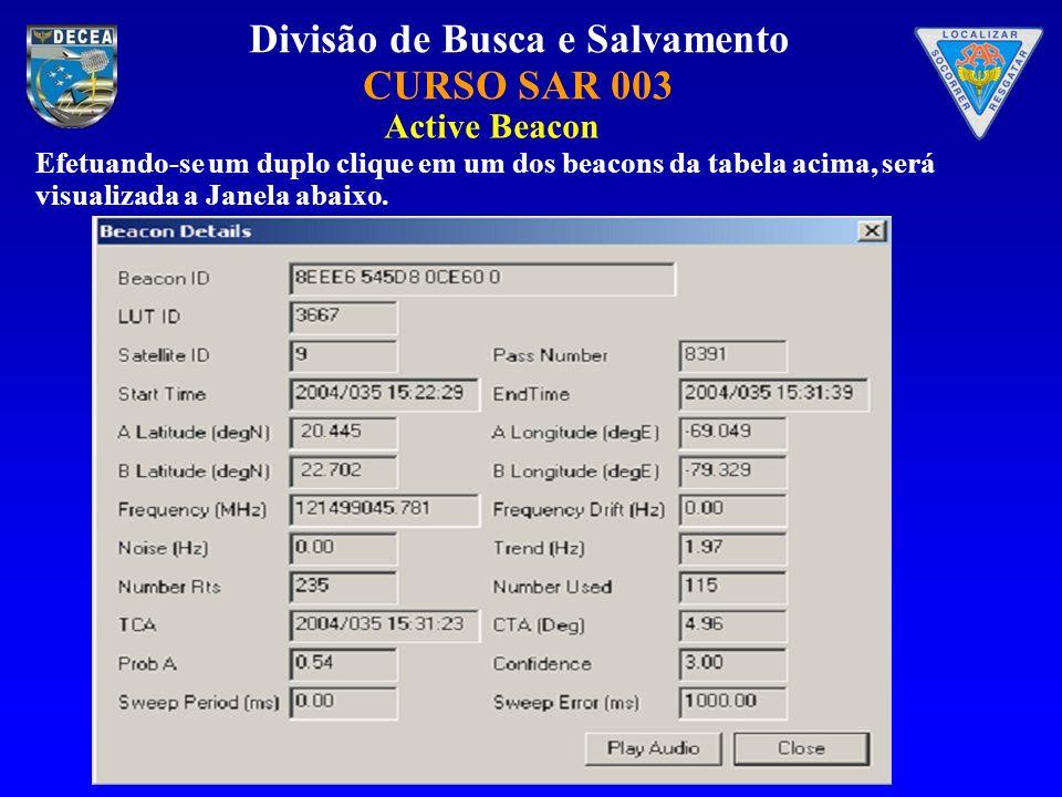 Active Beacon Efetuando-se um duplo clique em um dos beacons da tabela acima, será visualizada a Janela abaixo.