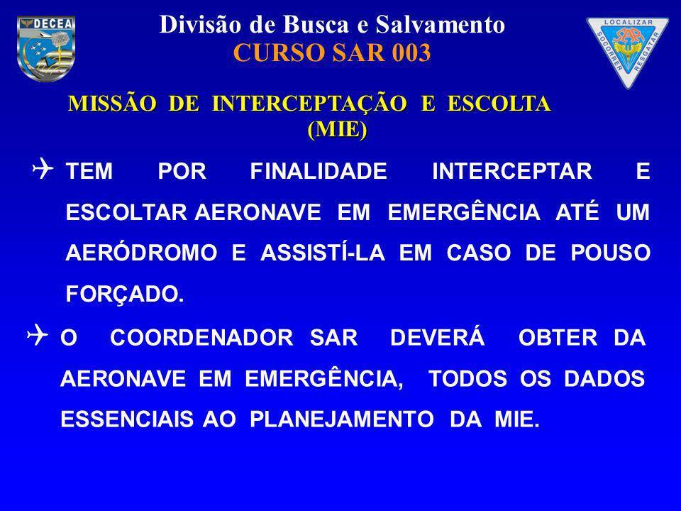 MISSÃO DE INTERCEPTAÇÃO E ESCOLTA (MIE)
