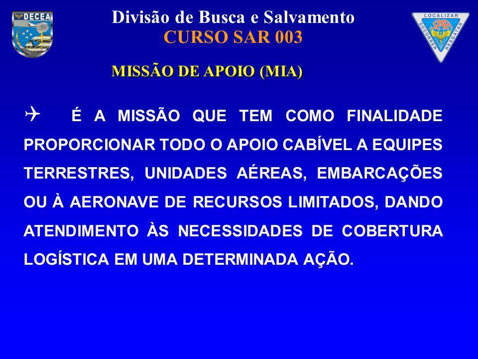 MISSÃO DE APOIO (MIA)