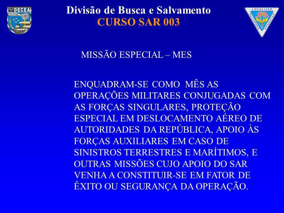 MISSÃO ESPECIAL – MES