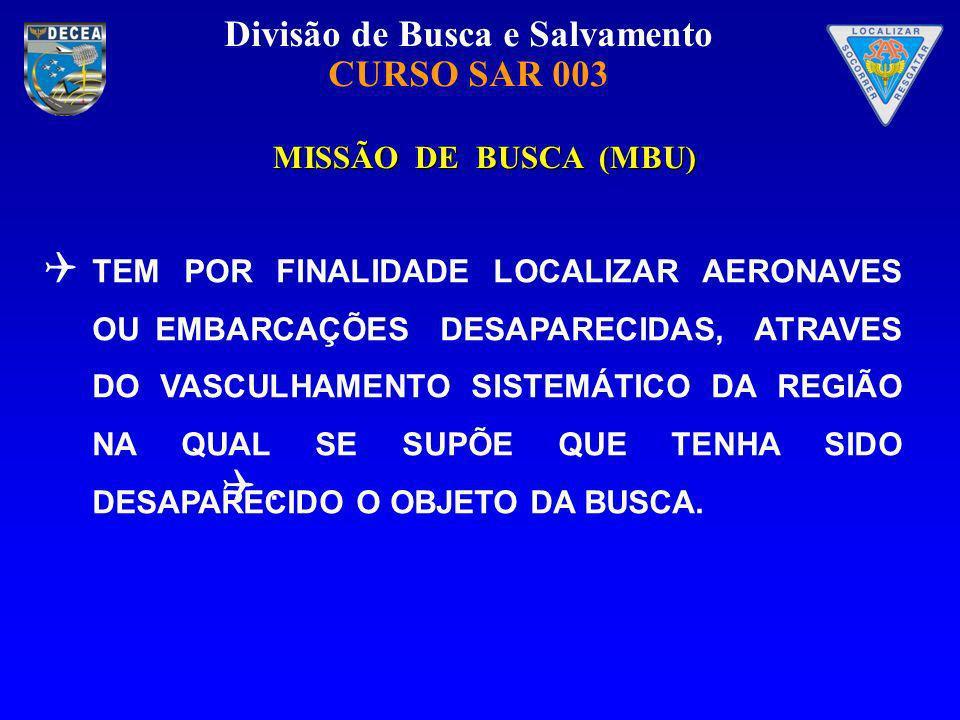 MISSÃO DE BUSCA (MBU)