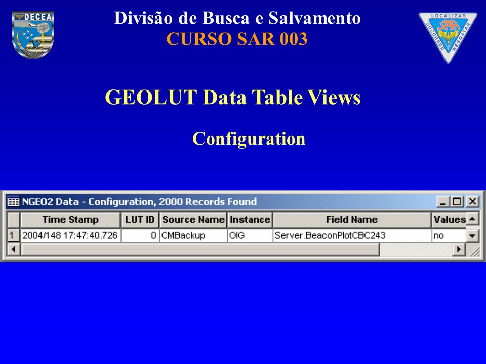 GEOLUT Data Table Views