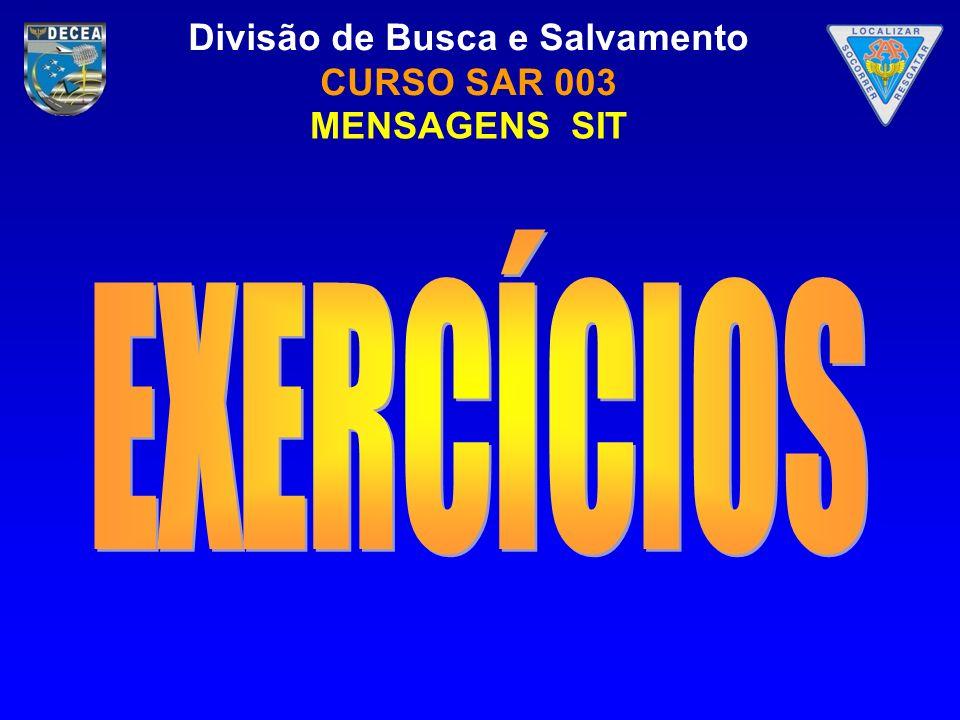 MENSAGENS SIT exercícios