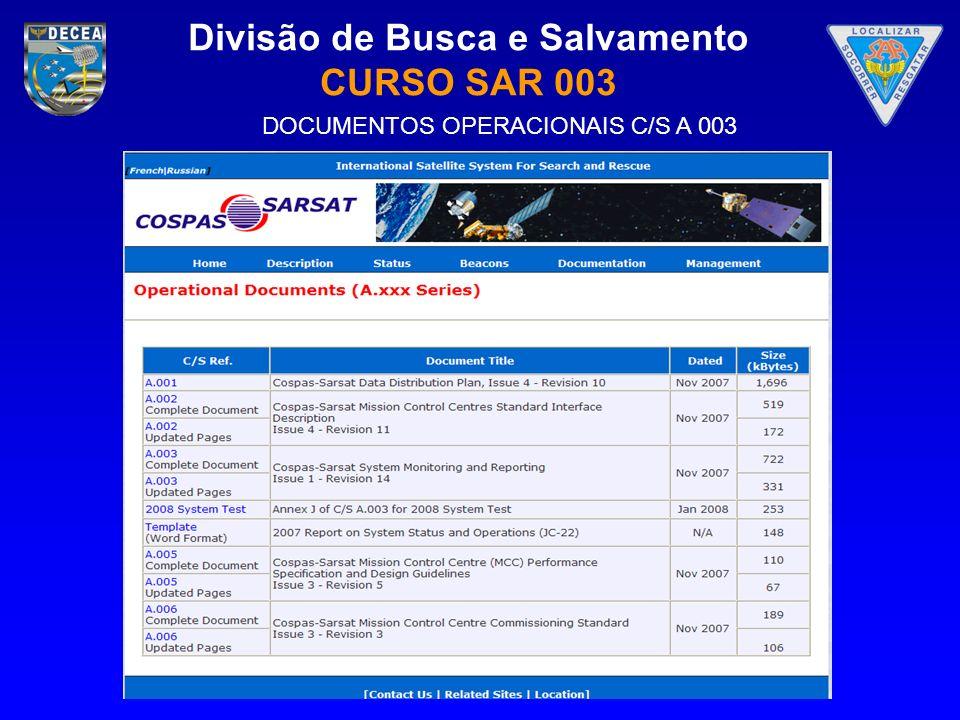 DOCUMENTOS OPERACIONAIS C/S A 003
