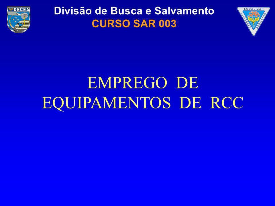 EMPREGO DE EQUIPAMENTOS DE RCC