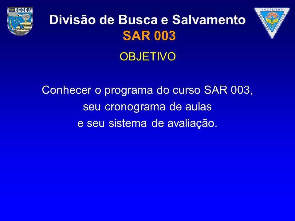 Divisão de Busca e Salvamento SAR 003