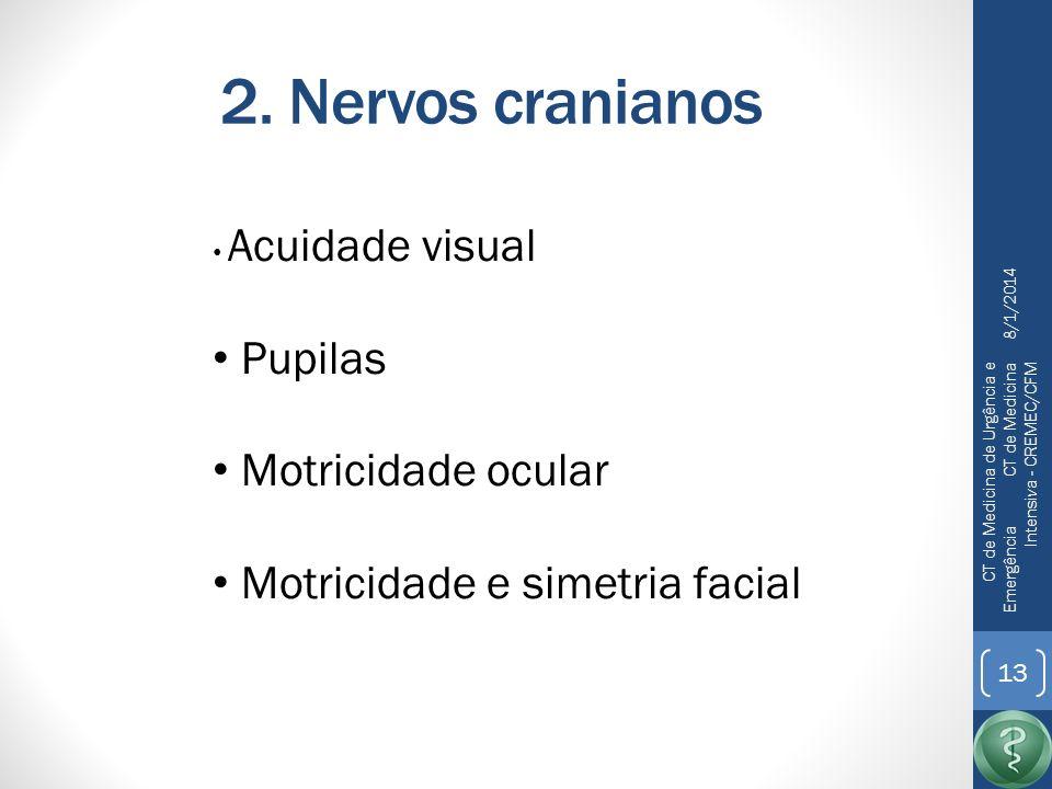 2. Nervos cranianos Pupilas Motricidade ocular