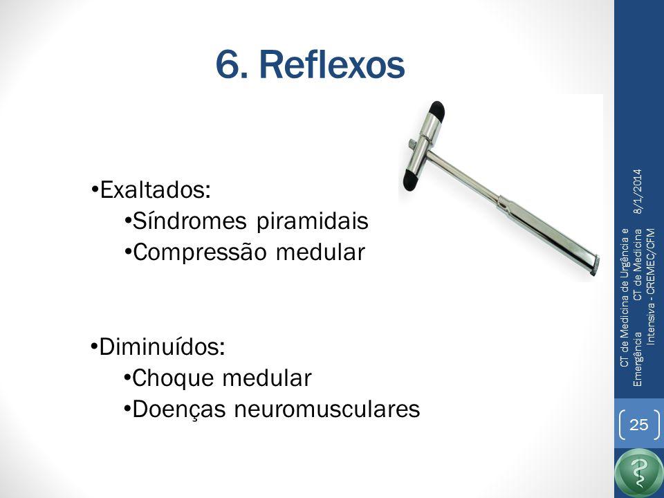 6. Reflexos Exaltados: Síndromes piramidais Compressão medular