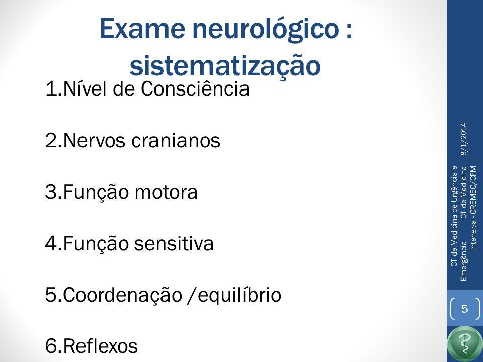 Exame neurológico : sistematização