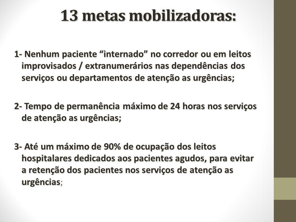 13 metas mobilizadoras: