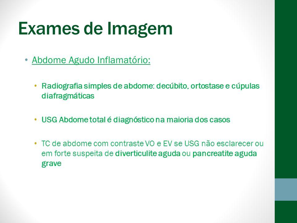 Exames de Imagem Abdome Agudo Inflamatório: