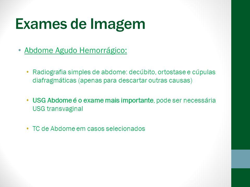Exames de Imagem Abdome Agudo Hemorrágico: