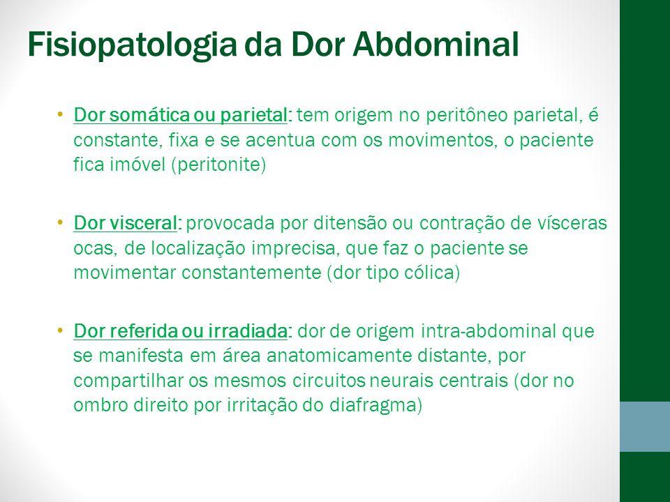 Fisiopatologia da Dor Abdominal