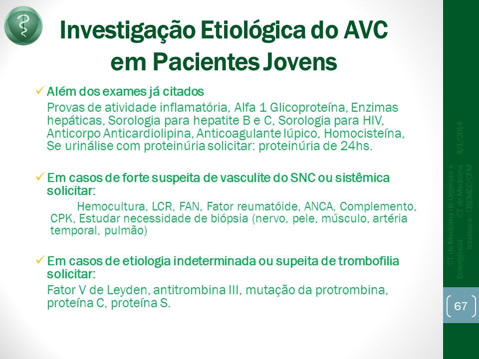 Investigação Etiológica do AVC em Pacientes Jovens