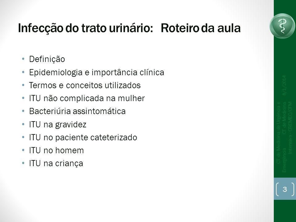 Infecção do trato urinário: Roteiro da aula
