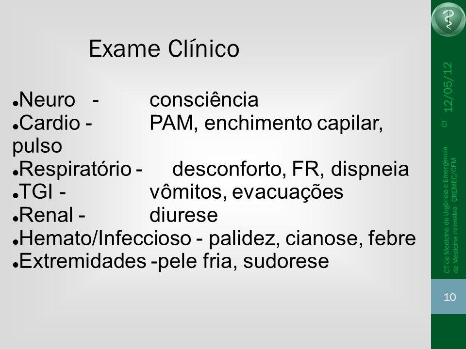 Exame Clínico Neuro - consciência