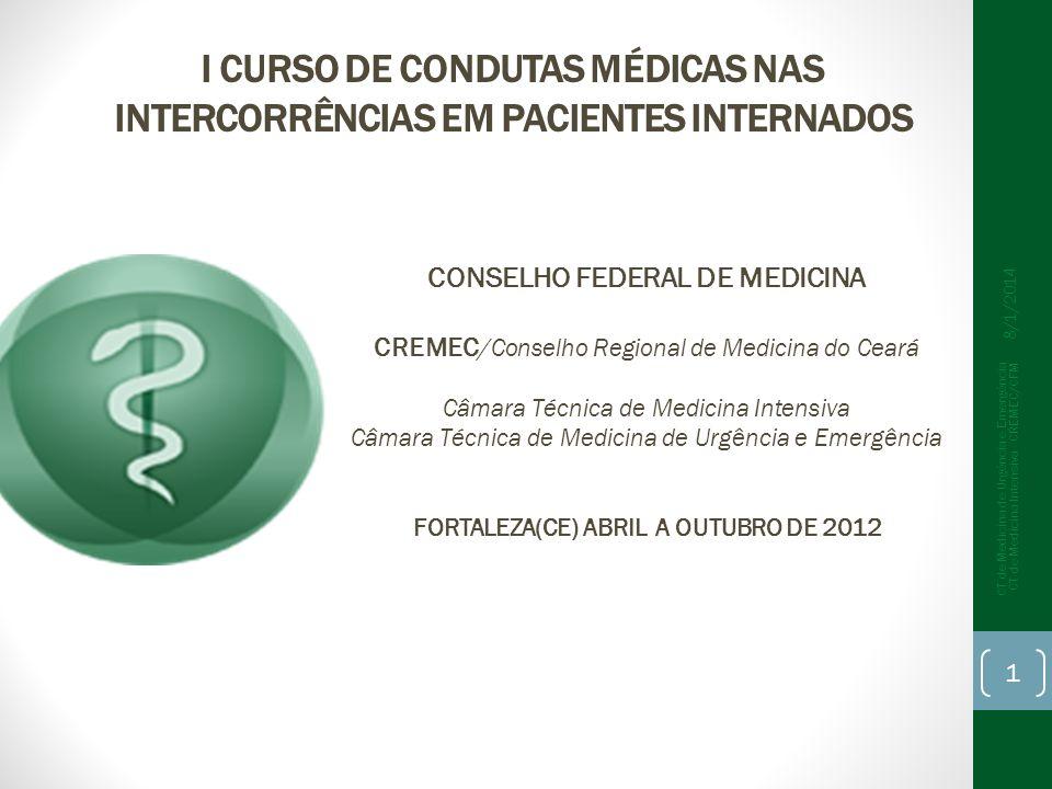 CONSELHO FEDERAL DE MEDICINA FORTALEZA(CE) ABRIL A OUTUBRO DE 2012