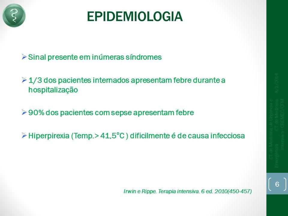 EPIDEMIOLOGIA Sinal presente em inúmeras síndromes