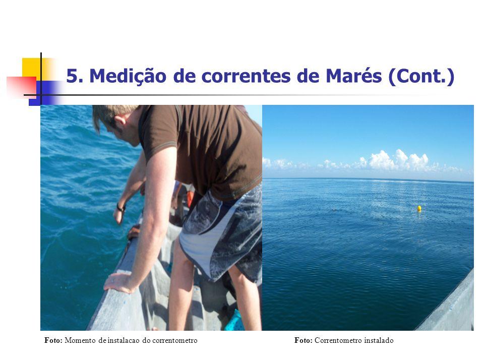 5. Medição de correntes de Marés (Cont.)