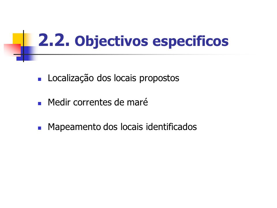 2.2. Objectivos especificos