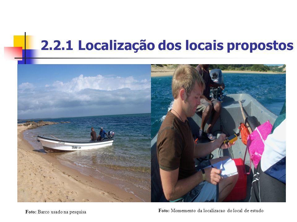 2.2.1 Localização dos locais propostos