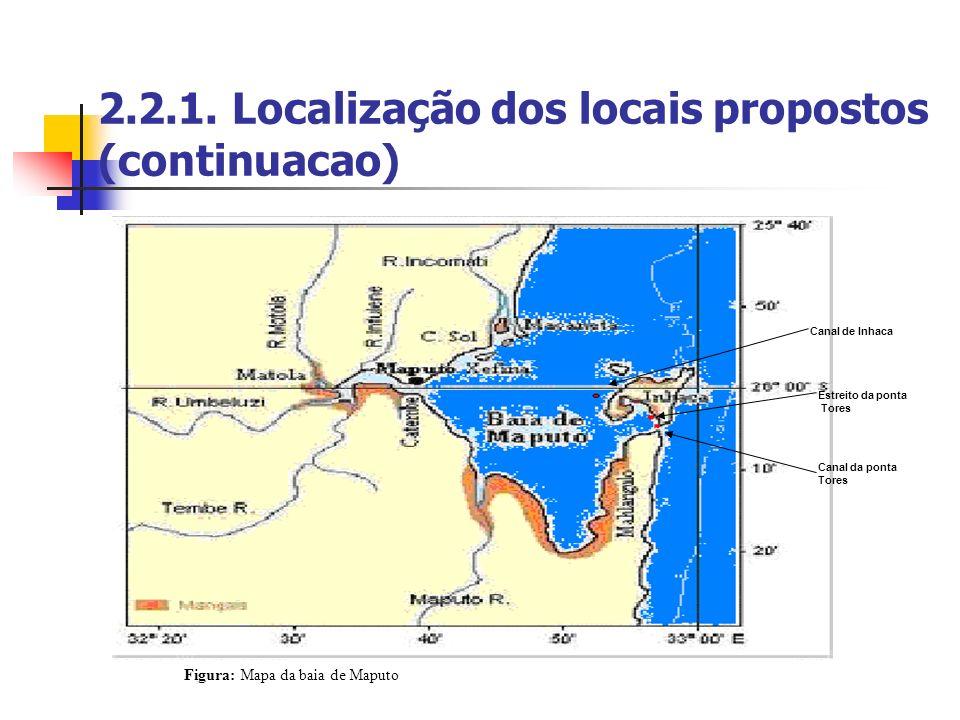 2.2.1. Localização dos locais propostos (continuacao)