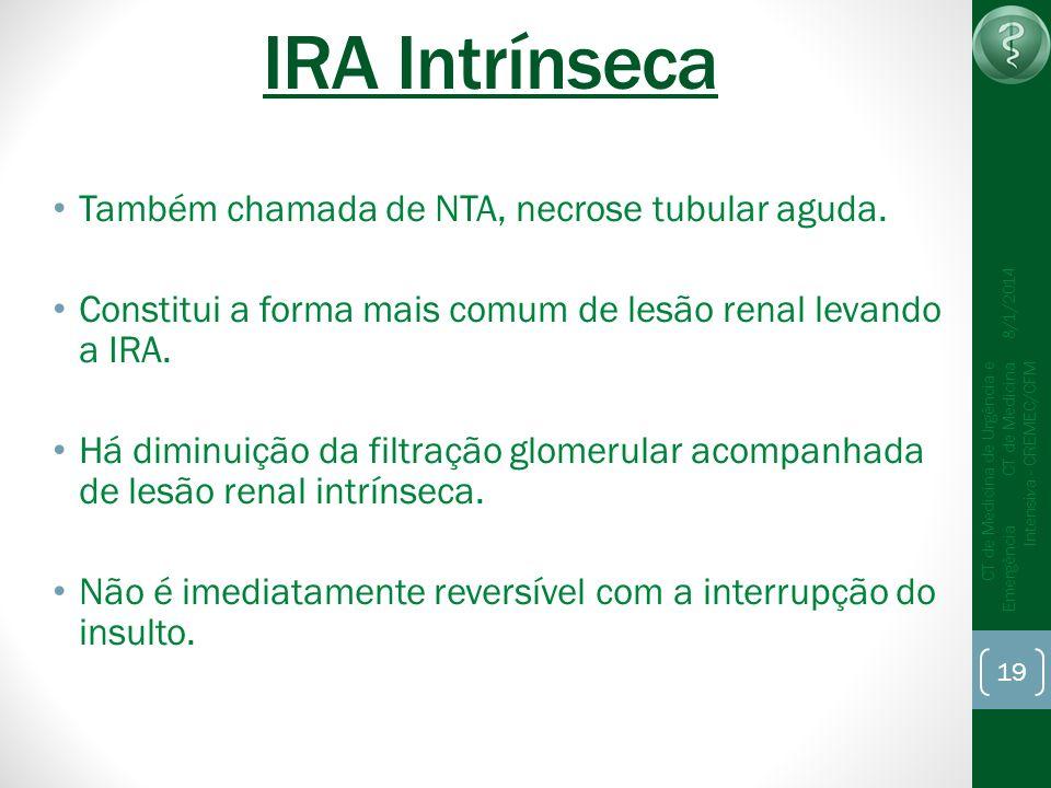 IRA Intrínseca Também chamada de NTA, necrose tubular aguda.