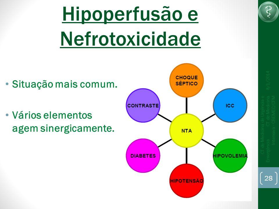 Hipoperfusão e Nefrotoxicidade