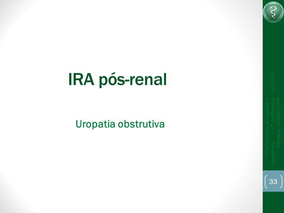 IRA pós-renal Uropatia obstrutiva 25/03/2017