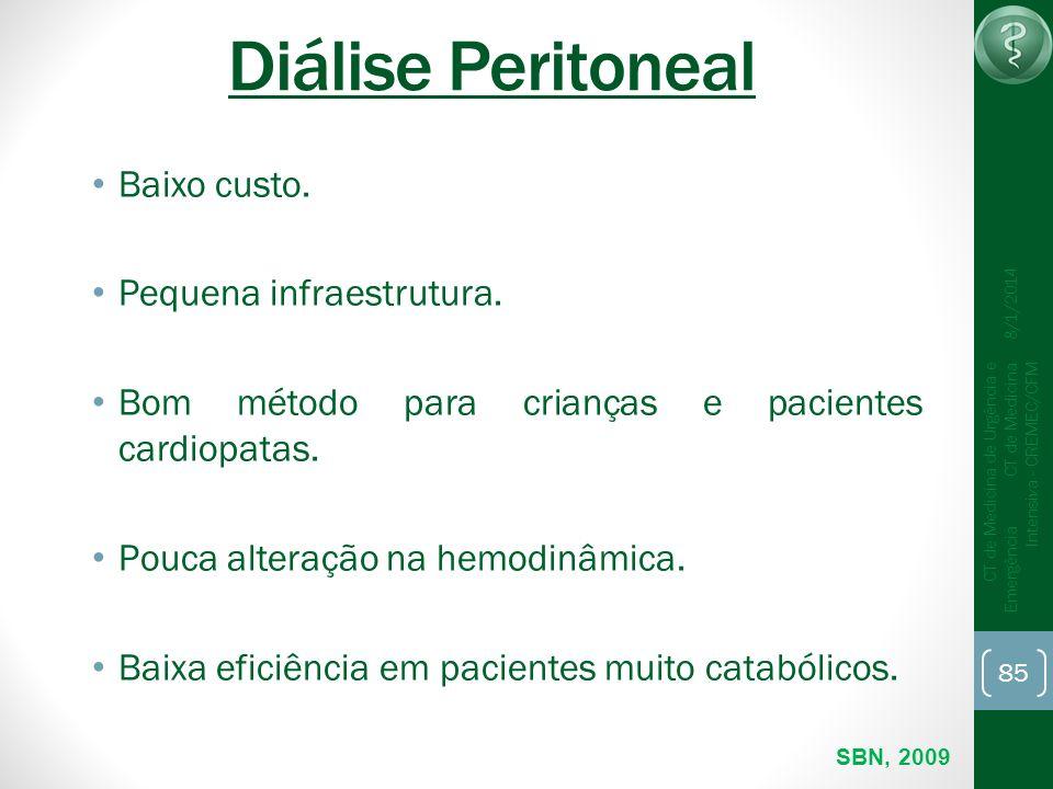 Diálise Peritoneal Baixo custo. Pequena infraestrutura.