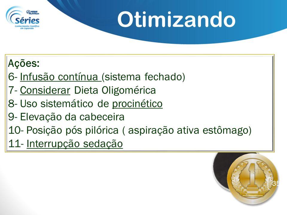 Otimizando Ações: 6- Infusão contínua (sistema fechado)