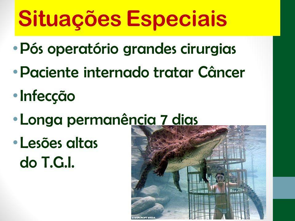 Situações Especiais Pós operatório grandes cirurgias