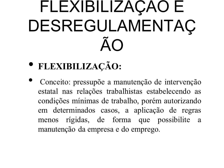 FLEXIBILIZAÇÃO E DESREGULAMENTAÇÃO