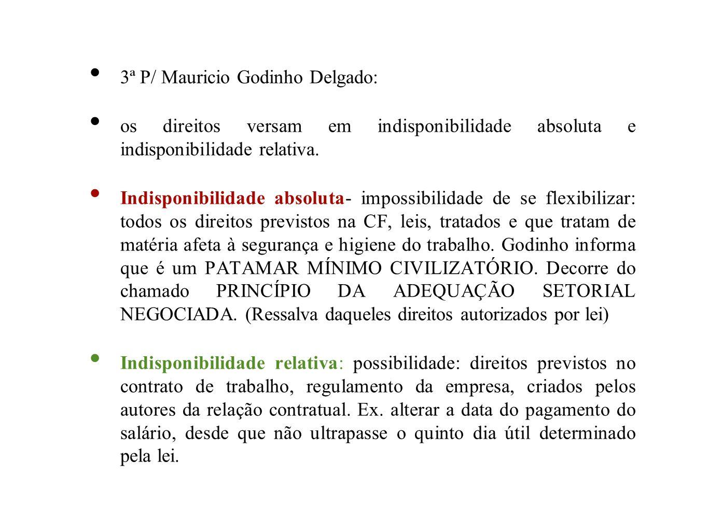 3ª P/ Mauricio Godinho Delgado: