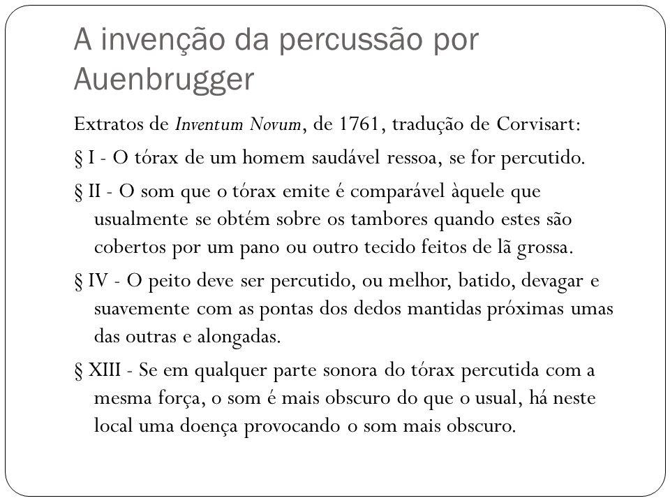 A invenção da percussão por Auenbrugger