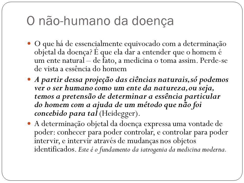 O não-humano da doença