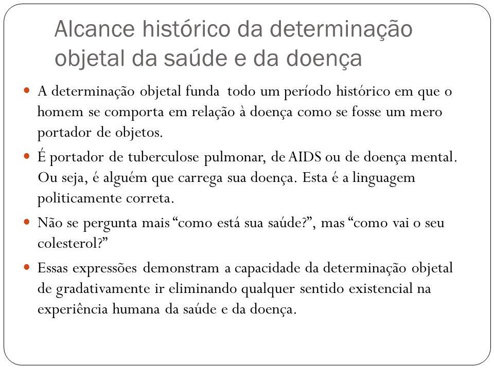 Alcance histórico da determinação objetal da saúde e da doença