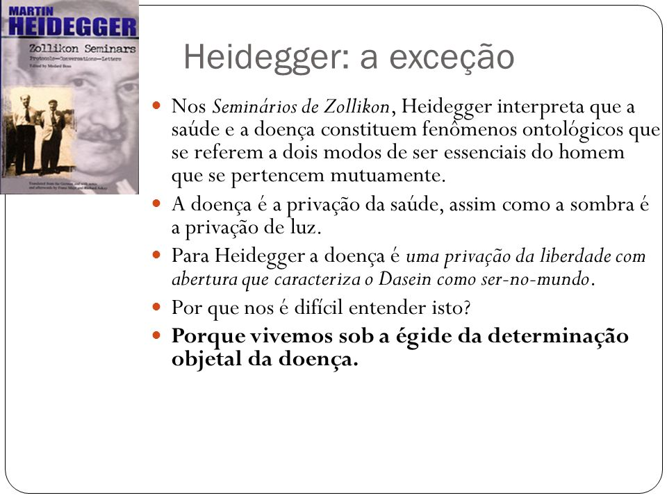 Heidegger: a exceção