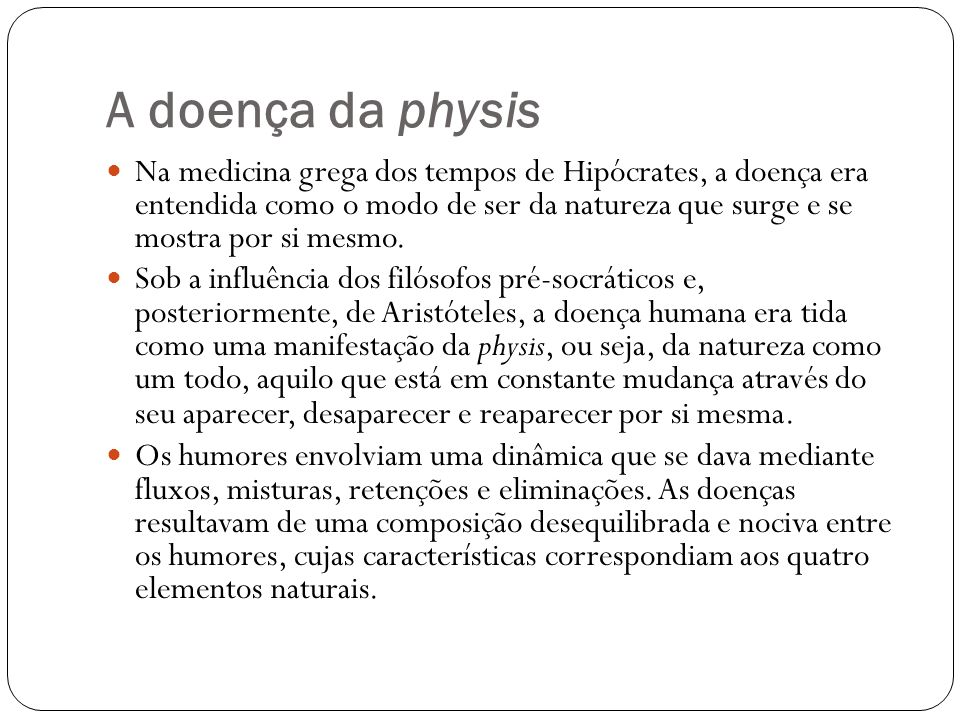 A doença da physis