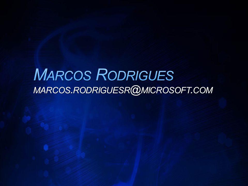 Marcos Rodrigues marcos.rodriguesr@microsoft.com