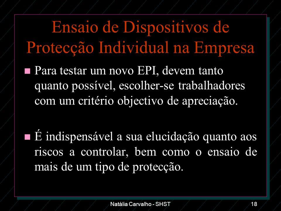 Ensaio de Dispositivos de Protecção Individual na Empresa