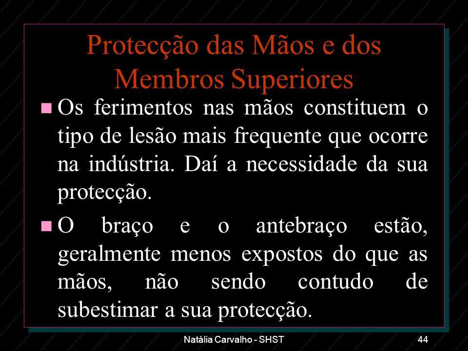Protecção das Mãos e dos Membros Superiores