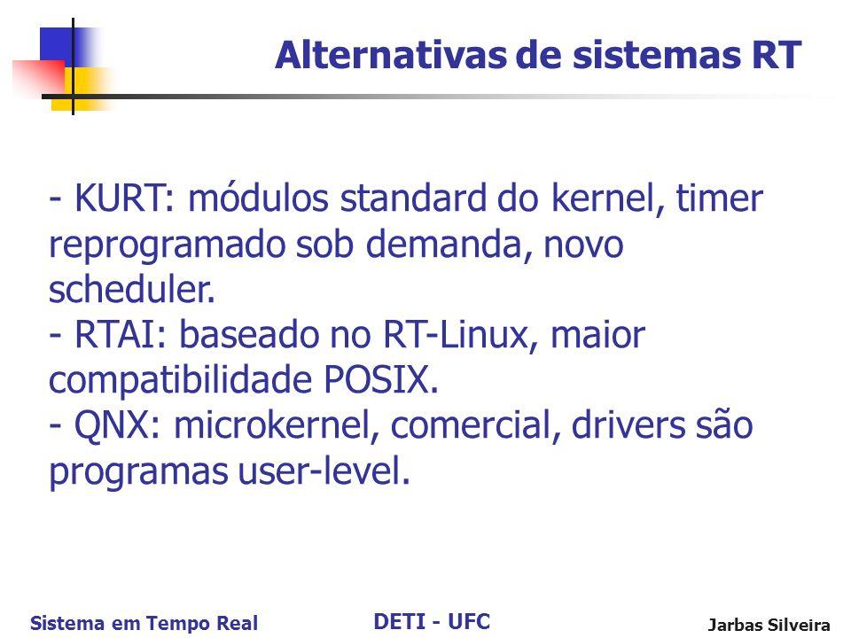 Alternativas de sistemas RT
