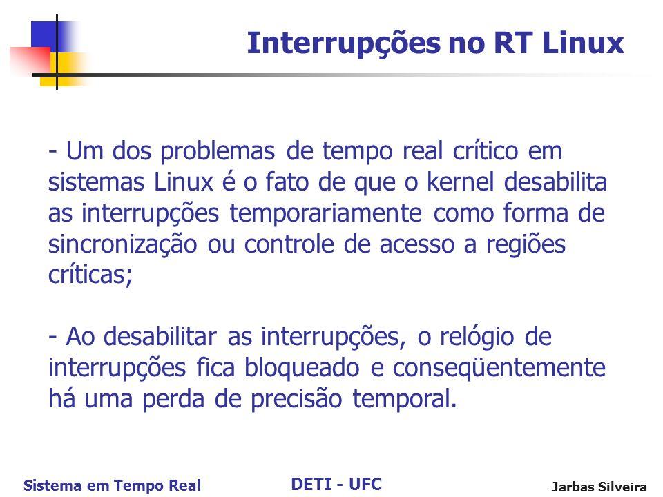 Interrupções no RT Linux