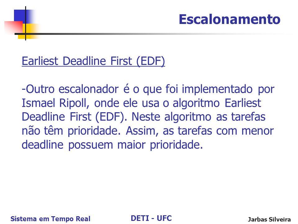 Escalonamento Earliest Deadline First (EDF)
