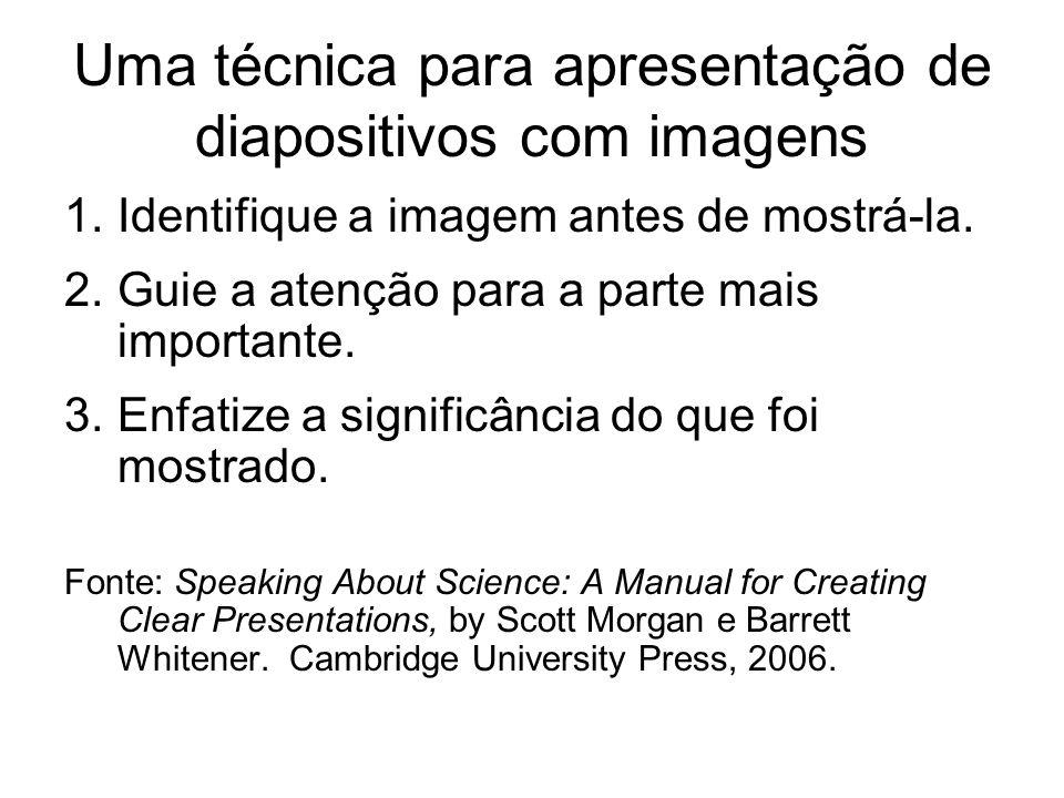 Uma técnica para apresentação de diapositivos com imagens