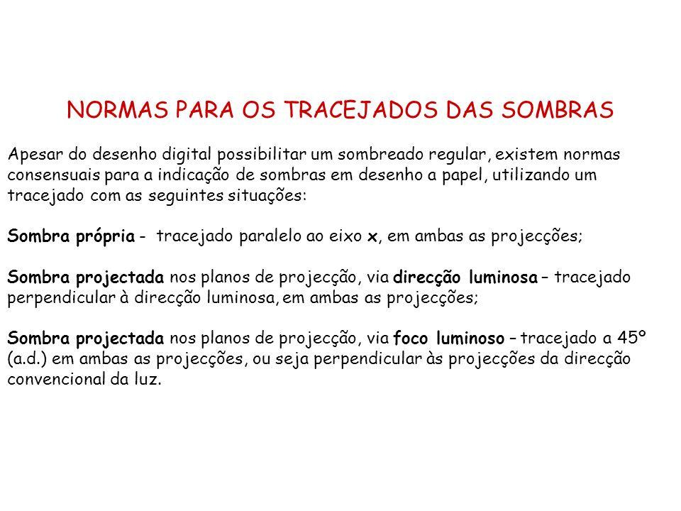 NORMAS PARA OS TRACEJADOS DAS SOMBRAS