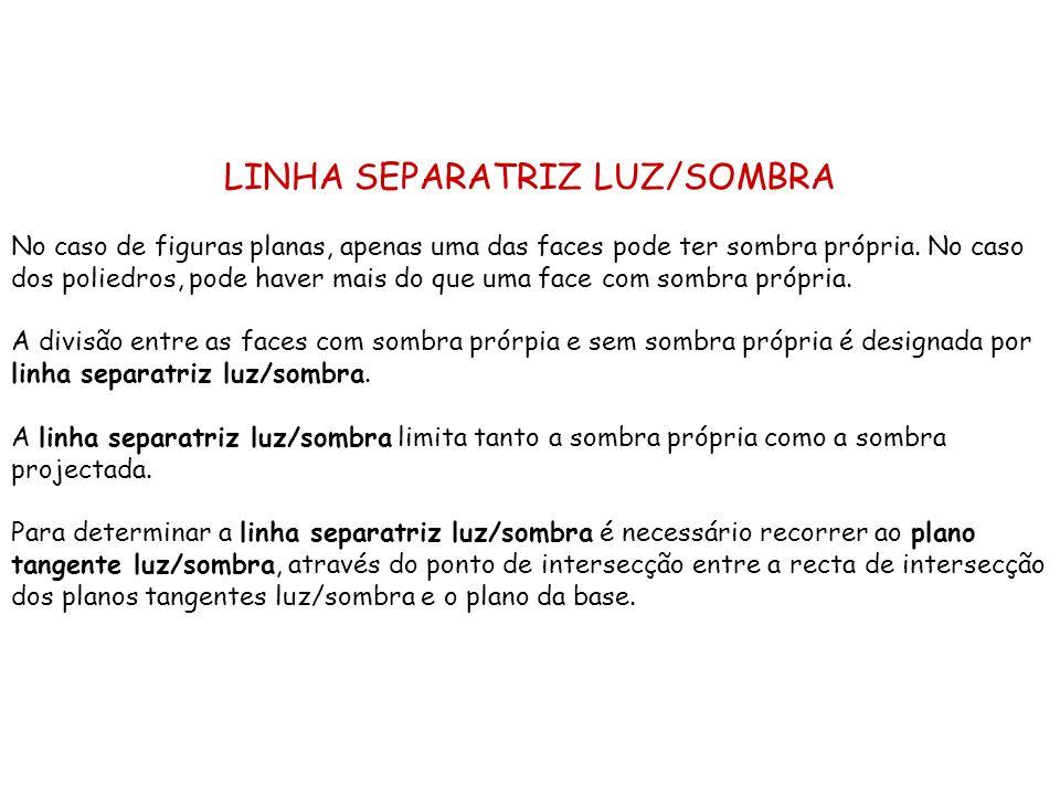 LINHA SEPARATRIZ LUZ/SOMBRA