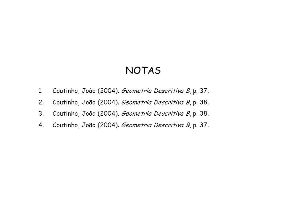 NOTAS Coutinho, João (2004). Geometria Descritiva B, p. 37.
