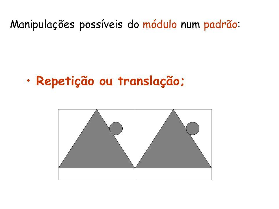 Repetição ou translação;